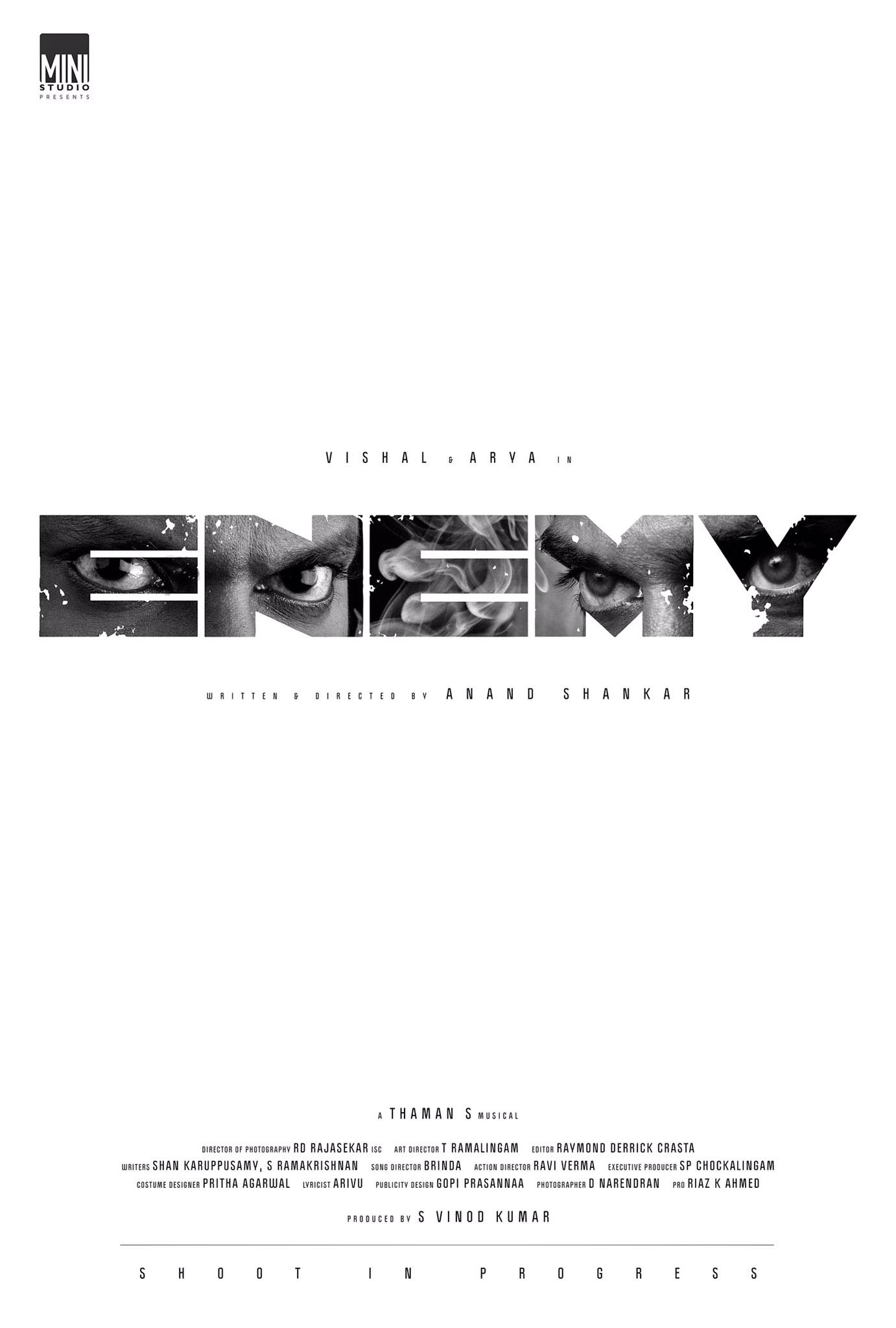 Enemy Movie Title look poster | Arya,Vishal,Thaman